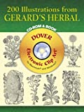 200 Illustrations From Gerard´s Herbal (Dover Electronic Clip Art)