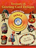 Treasury of Greeting Card Designs (Full-Color Electronic Designs)