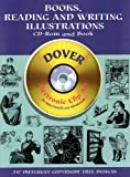 Books, Reading and Writing Illustrations (Dover Electronic Clip Art)