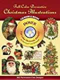 Full-Color Decorative Christmas Illustrations (Dover Full-Color Electronic Design)